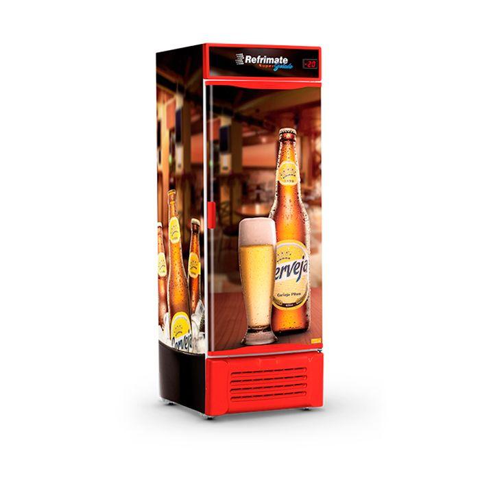 Refrigerador vert. p.cega 600lt 220v cervejeira preto refrimate mod.vcc600