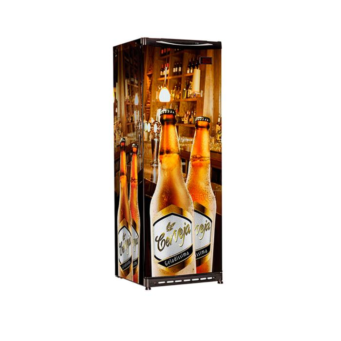 Refrigerador vert.p.cega esmaltec 300lt 127v cervejeira ref.cv300r