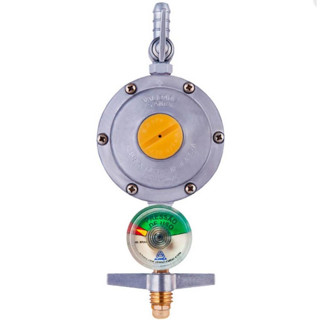 Regulador para Gás Aliança 2kg/H Com Manomêtro 506/01 B-BTM