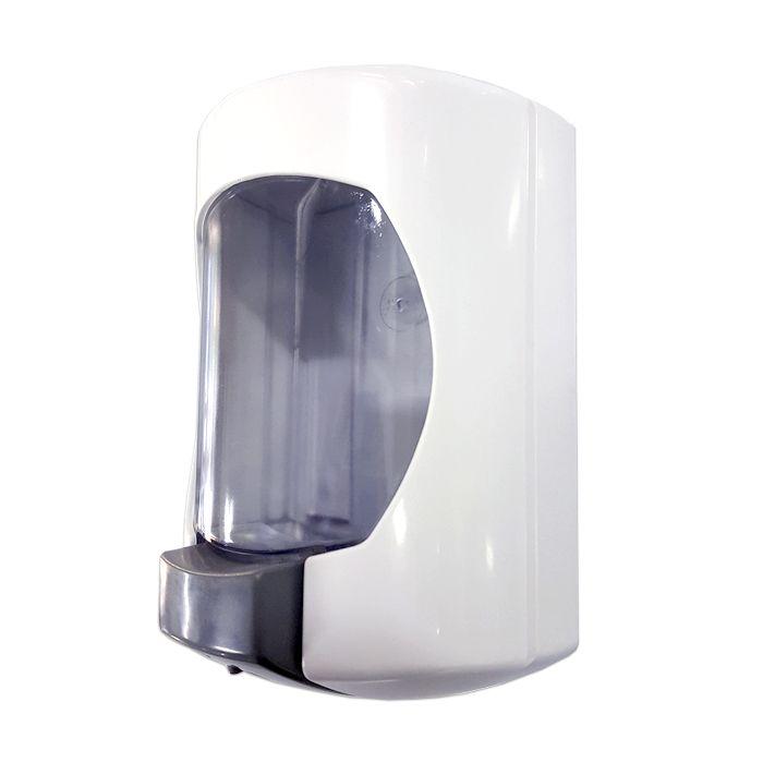 Saboneteira branca / cristal jsn c/ reservatorio ref. j6