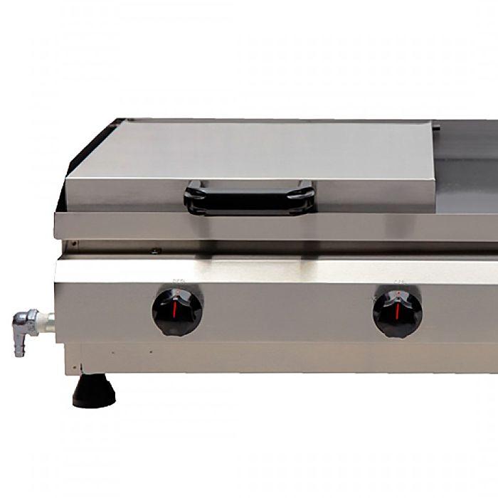 Sanduicheira conjugada a gas 1 prensa edanca 60cm prata 2 queim. mod.scgp-60