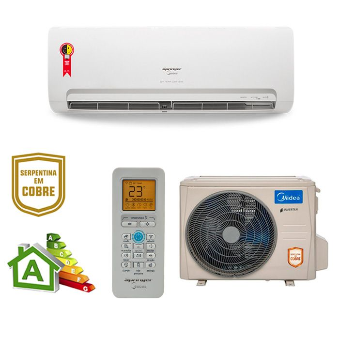 Ar Condicionado Split High Wall Inverter Springer Midea  Só Frio 23000 BTUs 42mbca24m - 220v