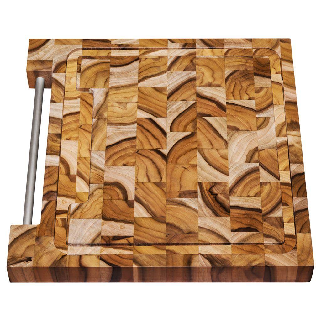 Tábua para Churrasco Tramontina em Madeira Invertida Teca 48x36 cm