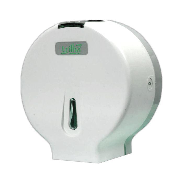 Toalheiro p/ papel higienico em bobina de 300mt branco trilha  mod. t-0311pl
