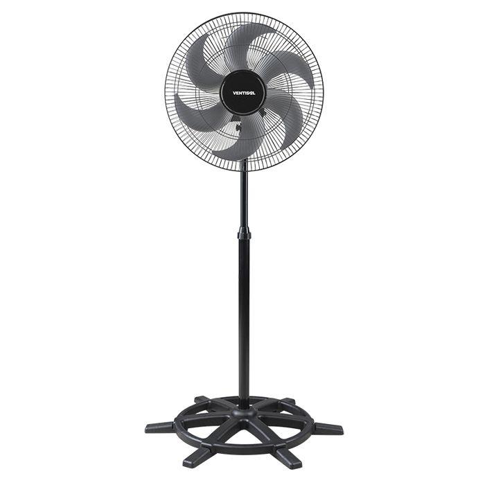 Ventilador de coluna 50cm 127/ 220v cinza/ preto ventisol mod.steel 50 ref.5317