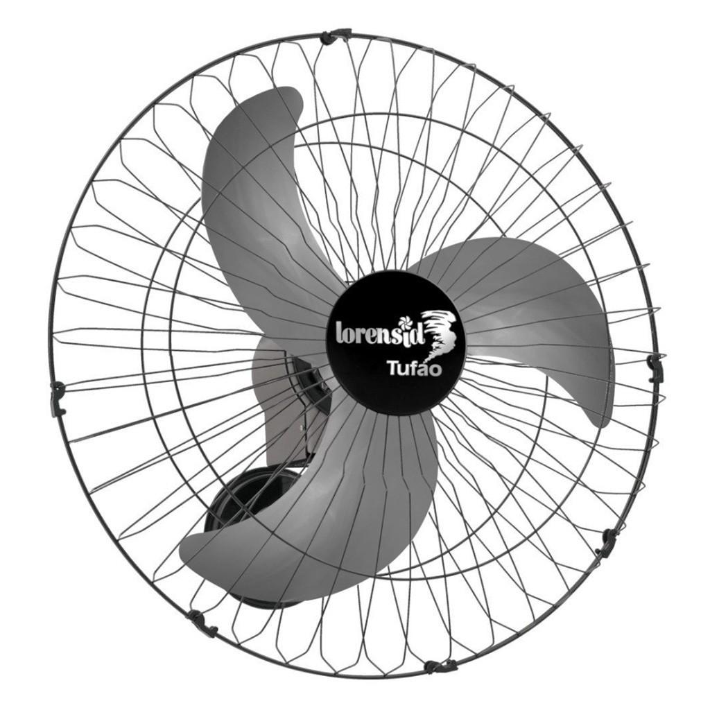 Ventilador de Parede Loren Sid Tufão M2 3 Pás 60cm Preto - 127/220v