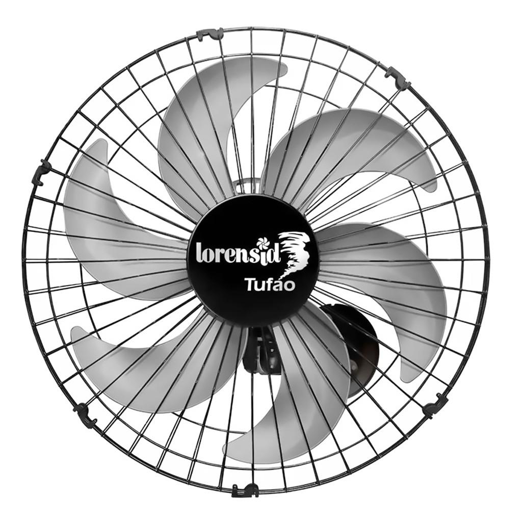 Ventilador de Parede Loren Sid Tufão 6 Pás 50cm Preto - 127/220v