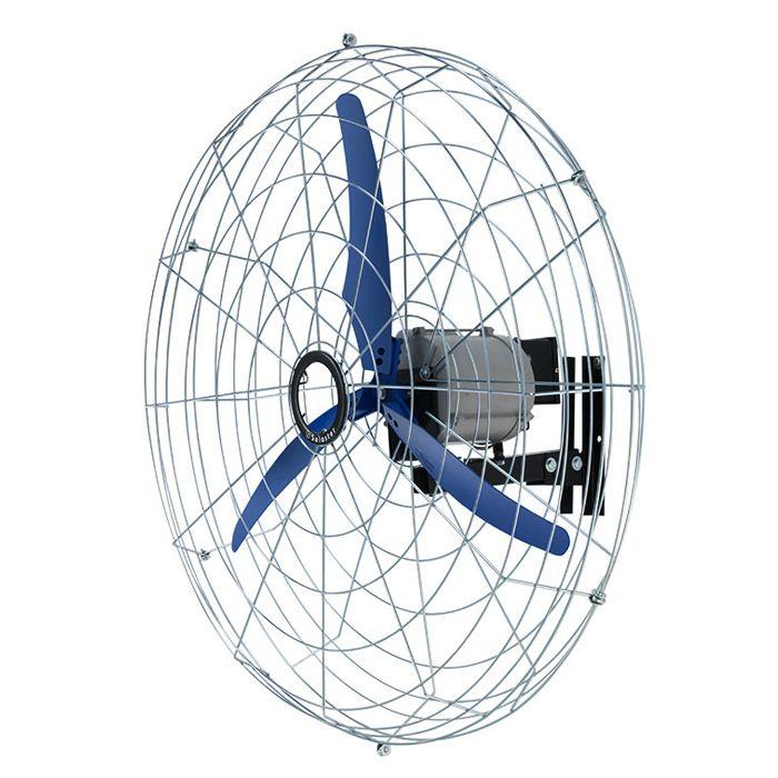 Ventilador de Parede Fixo Solaster Power 10 3 Pás 100cm Azul - 127/220v