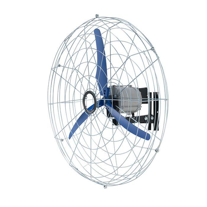 Ventilador de Parede Oscilante 120º Solaster Power 10 3 Pás 100cm Azul - 127/220v