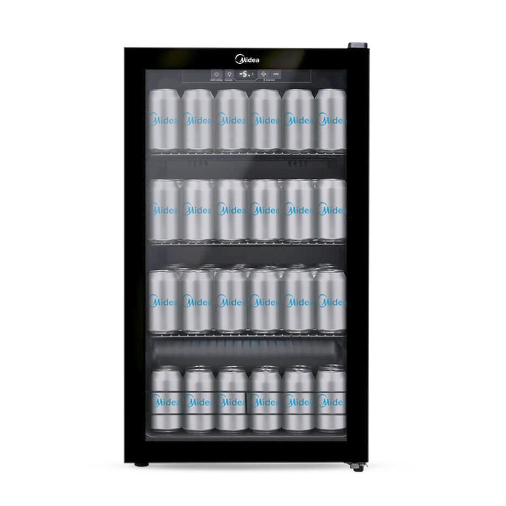 Vitrine Cervejeira Midea Flex BCA10P Preta 96L - 127v