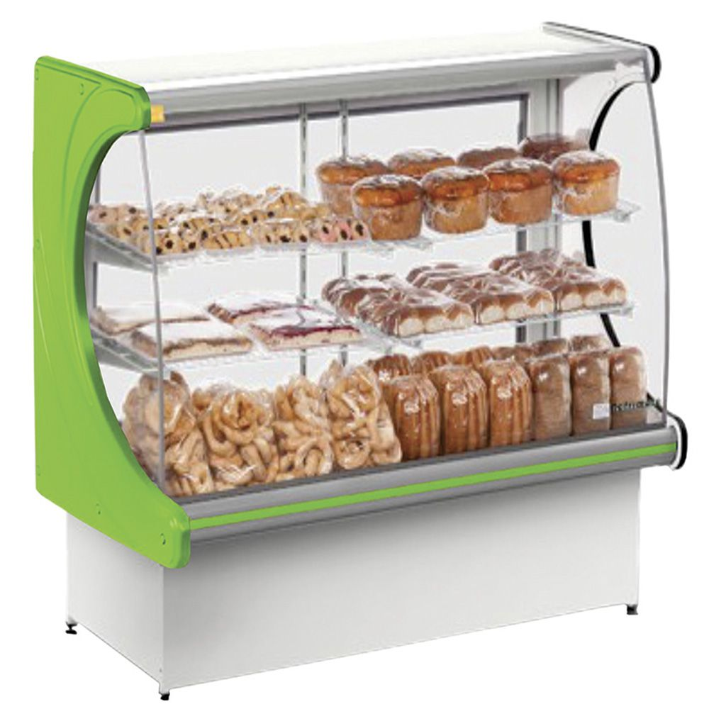 Vitrine natural refrimate panoramica 1,20 mt verde mod.vps-1200 ref. 011375-1