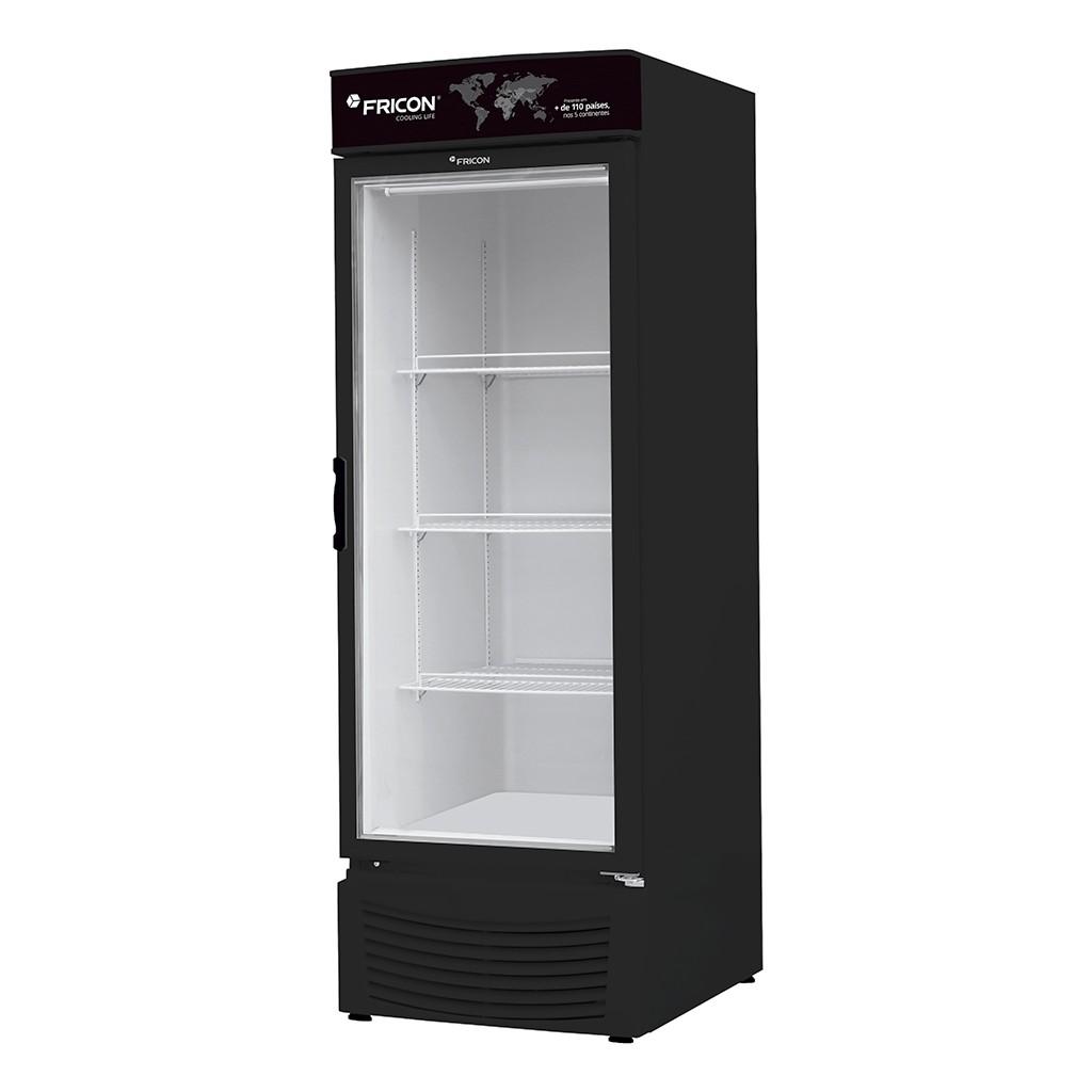 Vitrine Vertical Refrigeradora e Freezer Para Bebidas 565L Fricon Preto VCED 565 V - 220v