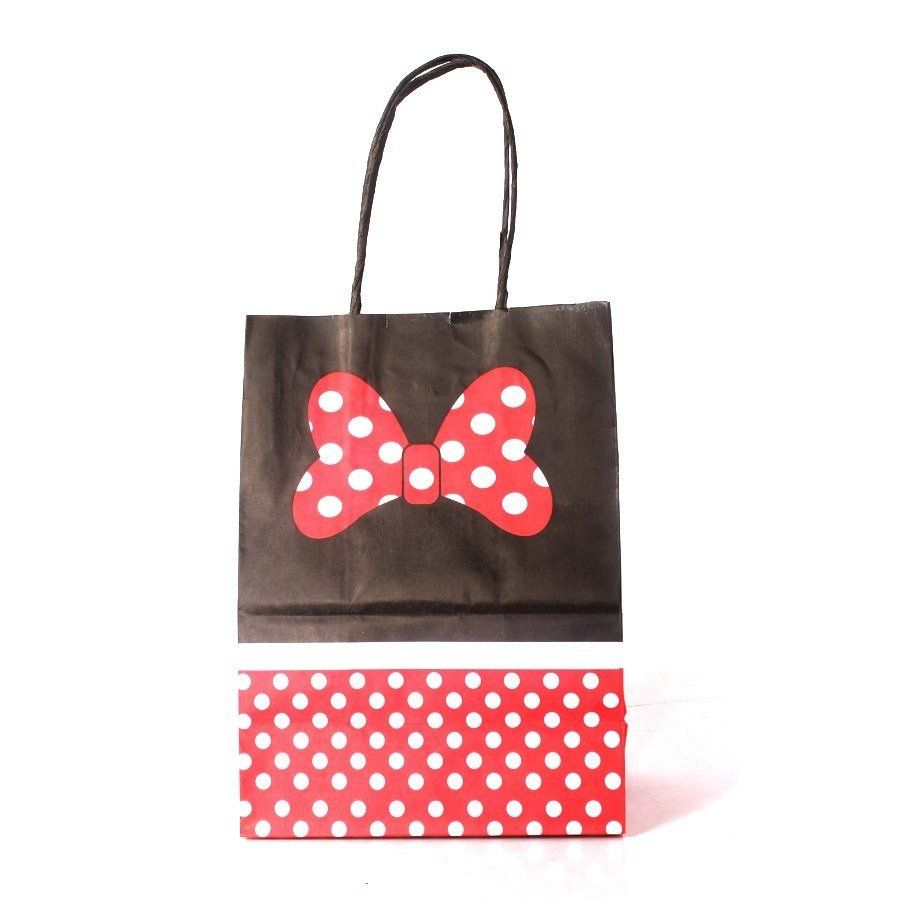 10 Sacolas De Papel Kraft Minnie