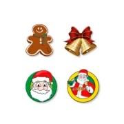 Adesivo Decorativo de Natal Sortidos - 8 Unidades