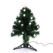 Árvore de Natal com Pisca em Fibra Ótica Bivolt - 60cm