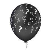 """Balão Látex Decorado Chá de Revelação 10"""" Preto - 25un"""