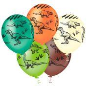 """Balão Látex Decorado Dinossauros 10"""" - 25un"""