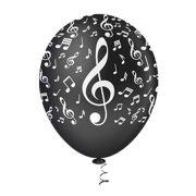 Balão Látex Decorado Notas Musicais 10