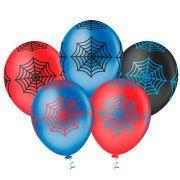 Balão Látex Decorado Teia de Aranha 10