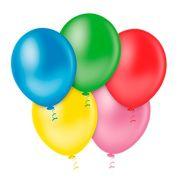 Balão Látex Neon Sortidos 5 Polegadas - 50 Unidades