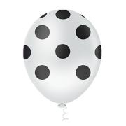 Balão Látex Poá Branco 10 Polegadas - 25 Unidades