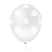 Balão Látex Poá Incolor 10 Polegadas - 25 Unidades