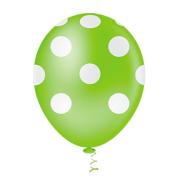 Balão Látex Poá Verde Limão 10 Polegadas - 25 Unidades