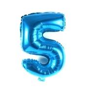 Balão Metalizado Azul Número  5