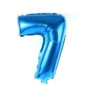Balão Metalizado Azul Número  7