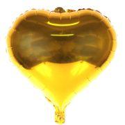 Balão Metalizado Coração Dourado 48Cm