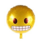 Balão Metalizado Emoji Tenso