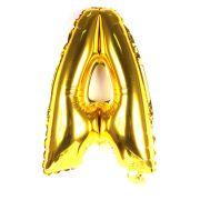 Balão Metalizado Letra A Dourado 35cm