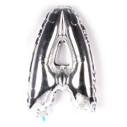 Balão Metalizado Letra A Prata 35cm