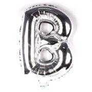 Balão Metalizado Letra B Prata 35cm