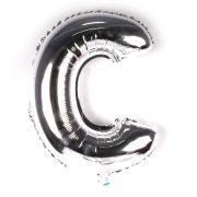 Balão Metalizado Letra C Prata 35cm