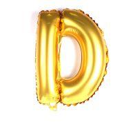 Balão Metalizado Letra D Dourado 35cm