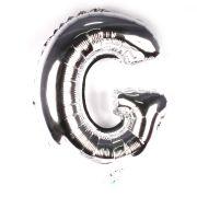 Balão Metalizado Letra G Prata 35cm