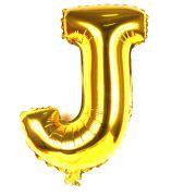 Balão Metalizado Letra J Dourado 35cm