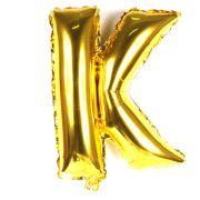 Balão Metalizado Letra K Dourado 35cm