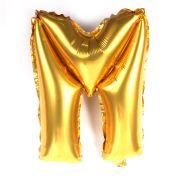 Balão Metalizado Letra M Dourado 35cm