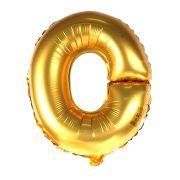 Balão Metalizado Letra O Dourado 35cm
