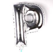 Balão Metalizado Letra P Prata 35cm