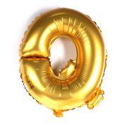 Balão Metalizado Letra Q Dourado 35cm