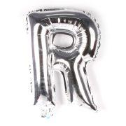 Balão Metalizado Letra R Prata 35cm