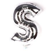 Balão Metalizado Letra S Prata 35cm