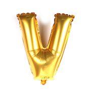 Balão Metalizado Letra V Dourado 35cm