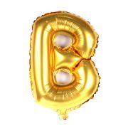 Balão Metalizado Letra B Dourado 70cm