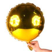 Balão Metalizado Redondo 45cm Dourado