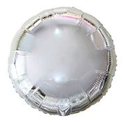 Balão Metalizado Redondo 45cm Prata