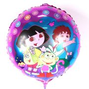 Balão Metalizado Redondo Dora Aventureira
